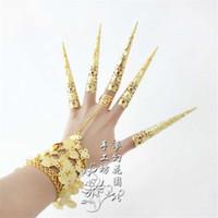 Wholesale Finger set indian dance accessories ring bracelet dance accessories show props cm long fingers