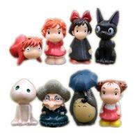 Wholesale Miyazaki Hayao Movie PVC Figures My neighbor Totoro Kiki s Delivery Service Jiji Spirited away Princess Mononoke Ponyo Yobaba set