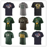banner printing service - Packers T Shirts cheap rugby football jerseys Tshirts Green Bay Salute To Service Banner Wave Black Gold Collection