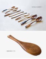 Wholesale Simple Japanese style wooden spoon set