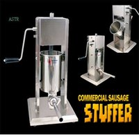 Wholesale 10L Manual vertical filler hand sausage machine Ham filling machine Sausage making machine All stainless steel materials Thicken