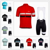 Wholesale Rapha Short Sleeves Cyling Jersey Set Quick Dry Breathable Bike Wear Two Stripes Style Summer For MEN WOMEN Ropa Ciclismo XS XL