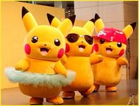 Wholesale Fashion Pikachu walking cartoon Doll clothing custom live play props puppet mascot dolls Promotions WG163 DHL free