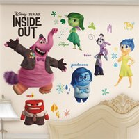 anger kids - 100pcs Cartoon movie inside out joy sadness fear disgust anger wall stickers Kids room decor home decals girls gift ZYIO006 baby room