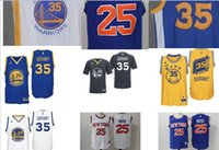 xxxl size - 2016 New Kevin Durant Jersey Golden State blue white black yellow size S XL accept mix order DHL