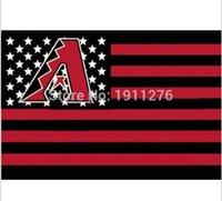arizona flag - Arizona Diamondbacks USA star stripe MLB Premium Team Baseball Flag X5FT home decoration Flying cm Custom flag
