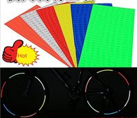 Wholesale Reflective Stickers Bike Car Bicycle Wheel stickers Motorcycle Wheel Rims Reflective Stickers strips set on paper