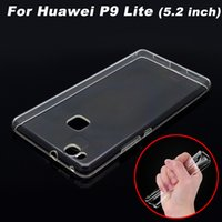 Wholesale Huawei P9 Lite Case Cover Transparent TPU Soft Cover Phone Case For Huawei P9 Lite Back Cover Case inch