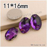 amethyst crafts - Super Shiny mm Amethyst Oval Shape Crystal Sewing Strass Flatback Sew On Rhinestone For Clothes Dress Crafts