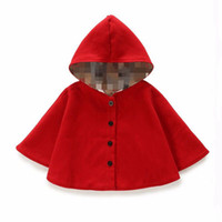 baby poncho pattern - 2016 winter autumn fashion children s cotton black red hooded cloak baby girls cape pattern kids boys girl coats jackets shawl