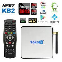 Wholesale NPET KB2 S912 Android Marshmallow TV Box Octa core GB GB Streaming Media Player Kodi M Ethernet