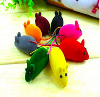 Wholesale New Practical Pile Coating Soft Rubber Cat Toy Mouse Pattern Phonate Sound Toys Pet Toy for Teeth Hot Sales