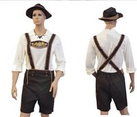 beer germany - Adult Hansell Small Leather Munich Beer Festival In Germany Bavaria Beer Clothing Halloween Costume Bib Shorts Embroidery
