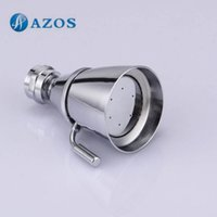Wholesale Brass diameter spray face Fixed Mount Wall Shower Head Chrome Bathroom Accessories HS010