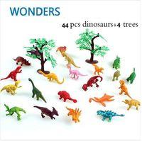 best dinosaur toys - 48pcs Dinosaur Toy Set Plastic Jurassic Park World Play Toys Dinosaur Model Action Figures T REX DINOSAUR Best Gift for Boys