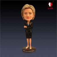 Wholesale Hillary Trump Action Figure quot Bobbleheads ABS top quality office gift NEW Hot guess who will be next USA president