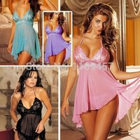 Wholesale Feitong Women Sexy Lingerie Corset With G string Piece Set Dress Underwear Sleepwear Plus Size shipping Dropshipping