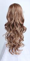auburn highlights - Fashion Long Wavy Auburn Blonde Wig Auburn Hair with Blonde Wig Highlights Hair Wigs for Women