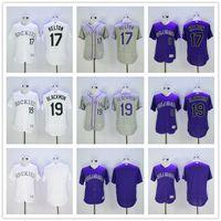baseball jersey store - Todd Helton Charles Blackmon Colorado Rockies Blank White Gray Purple Majestic MLB Flex Base Baseball Jerseys Outlets Store
