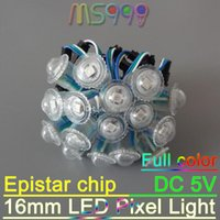 Wholesale Pixel LED Module WS2811 DC5V mm diameter Full Color SMD Programmable Modules led light for signage clear milky cover