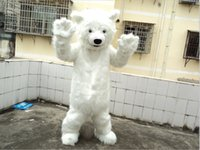Wholesale Cartoon Character Costume Bear - Custom Polar Bear Mascot Costume Character Adult Size Cartoon prop costumes free shipping
