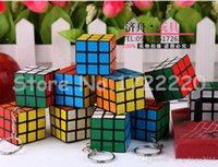 Wholesale Factory directly sales Keychain cube x3x3cm Puzzle Magic Game Toy Key Keychain