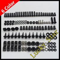 Wholesale 100 For SUZUKI GSXR600 GSXR750 GSXR GSX R600 R750 Body Fairing Bolt Screw Fastener Fixation Kit A