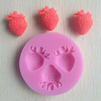 Wholesale Strawberries Soap Molds - Strawberry Silicone Mold Soap,Fondant Candle Molds,Sugar Craft Tools, Chocolate Moulds,Silicone Molds For Cakes freeshipping HY784
