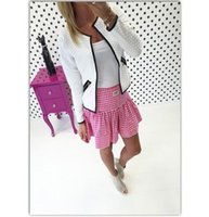 Wholesale Cheap Wholesale Women Coats - 2016 summer fashion long sleeve leather female blouses sweater casual cardigan woman jacket and coat white grey black This is cheap clothing
