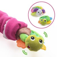 baby tots - Animal Hand Bell Baby Plush Toys Rings Rattles Toys For Tots Baby Development Gifts Plush Toys