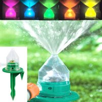 automatic water garden - Hot Sell LED Garden Lawn Sprinkler Garden Supplies Automatic Color Change Shower Head Sprayers Spray Head Watering Equipments LJJP86