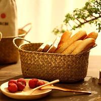 bamboo picnic basket - Bamboo Weaving Storage Basket Wash Storage Basket The Picnic Food Tableware Fruit Basket NEW Fashion Kitchen Accessories