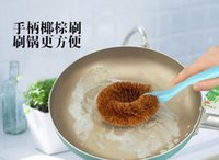 Wholesale Pot Brush Essential Palm Fibre Pot pan Dishes Cleaning Household Cleaning Tools Cleaning Brushes By Epacket