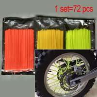 Wholesale 72 Universal Motocycle spoke cover cm length Mortalhas KTM Skins Capas Para HONDA para a YAMAHA para KAWASAKI