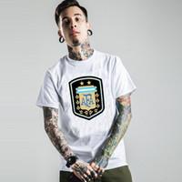 argentina t shirts - 2016 men summer tshirt homme Sports gym tees suit football t shirt European Cup national team Argentina plus size tx1334
