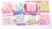Wholesale sheets pairs fashion CARTOON Mixed STICKs ON EARRING STICKER ACCESSORIE
