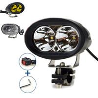 Wholesale 1PCS V Universal Super Bright Led Headlight Waterproof Spotlight External Lights for Car Motorcycle