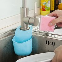 Wholesale Kitchen Sink Sponge Holder Bathroom Hanging Strainer Organizer Storage Box Rack Christmas Gift