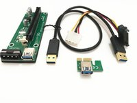 Wholesale PCIE PCI E PCI E Express Riser Card x to x USB Data Cable SATA to Pin IDE Molex Power Supply Bitcoin BTC Miner Machine