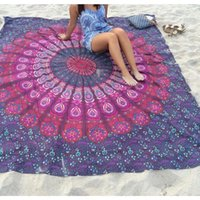 animal print serviettes - 2016 European And American Ethnic Large Shawl Chiffon Square Beach Towels Bohemian Style Print Beach Towel Circle Toallas Serviette De Plage