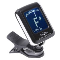 Wholesale Mini Clip on Clip on LCD Display Guitar Tuner Backlight Degree Rotatable Clip Tuner for Guitar Chromatic Bass Violin Ukulele