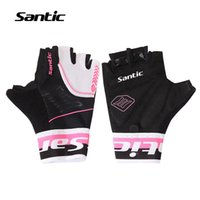 bicycle half finger gloves xs - Santic Women Cycling Gloves Half Finger Bicycle Gloves Breathable Summer Style MTB Road Downhill Bike Gloves Shockproof Palm