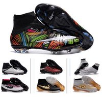 Wholesale 2016 Top Quality Kids Mercurial Superfly FG CR7 High Ankle Soccer Shoes Cristiano Ronaldo Cleats Ronaldo Footbal Shoes Cheapest Soccer Boots