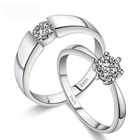 Wholesale 12Pcs Pretty Trendy Lovers Rings With Diamond Sterling Silver Fashion Jewelry Brand New Party Rings