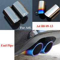 Wholesale Chrome Stainless Steel Sline Exhaust Tip Tail Pipe Muffler For AUDI A3 A4 B8 Sedan End Pipes Car Styling