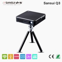 Wholesale Sansui Q3 WiFi Mini Pocket Mobile Portable Multimedia HDMI Projector with mAh Battery Miracast Airplay DLNA Led P