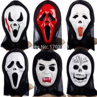 Wholesale Halloween mask Crazy Scared Ghost Scream Face Mask For Costume Party Dress Halloween Carnival