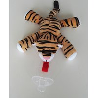 baby tiger stuffed animal - Good quality Tiger plush toy with pacifier nipples clip plush pacifier holder stuffed pacifier holder plush tiger toy for baby