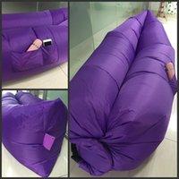 Lamzac Hangout com bolso rápido inflável Lounger Air sono Camping Sofá KAISR Praia tecido de nylon saco de dormir ao ar livre Bed envio DHL
