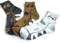 Wholesale 4Pairs Men s Coolmax Socks Outdoor Socks Quick Drying Hiking Socks Winter Thermal Cycling Socks Meias Masculinas M171
